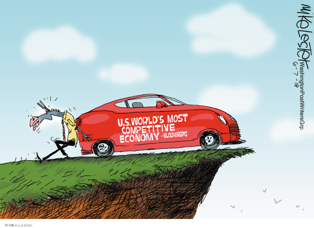 Cartoonist Mike Lester  Mike Lester's Editorial Cartoons 2018-06-07 economy