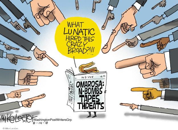 Mike Lester  Mike Lester's Editorial Cartoons 2018-08-14 former president