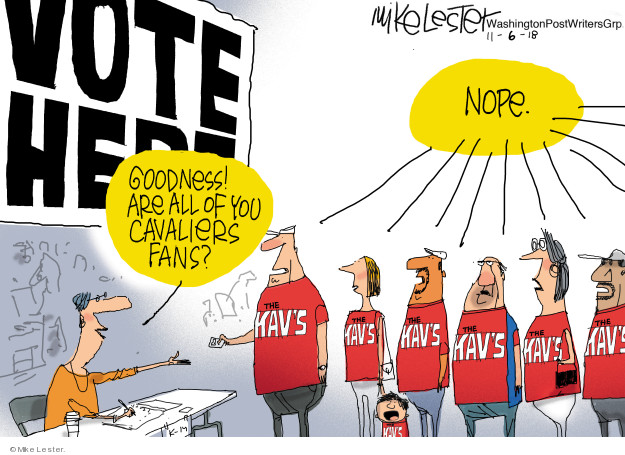 Mike Lester  Mike Lester's Editorial Cartoons 2018-11-06 voter