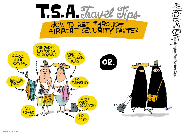 T.S.A. Travel Tips. How to get through airport security faster. No shoes. Remove belt. 3.4 oz liquid bottle. Prepare laptop for screening. Gels in zip-lock bag. No jewelry. Keep meds separate. No socks. Or …