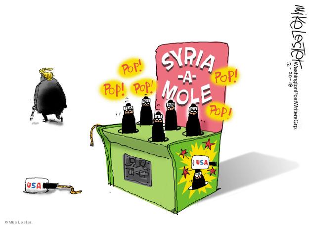 Syria-a-Mole. Pop! Pop! Pop! Pop! Pop! USA.