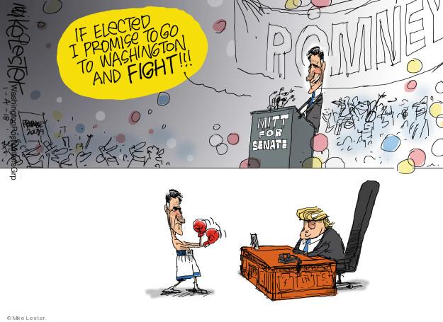 Cartoonist Mike Lester  Mike Lester's Editorial Cartoons 2019-01-04 republican politician