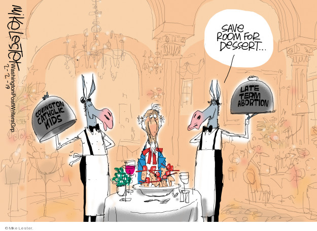Cartoonist Mike Lester  Mike Lester's Editorial Cartoons 2019-02-02 protest