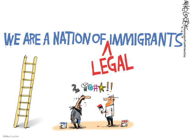 Mike Lester  Mike Lester's Editorial Cartoons 2019-04-06 immigration