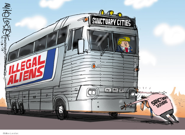 Sanctuary Cities. Illegal aliens. Sanctuary mayors.