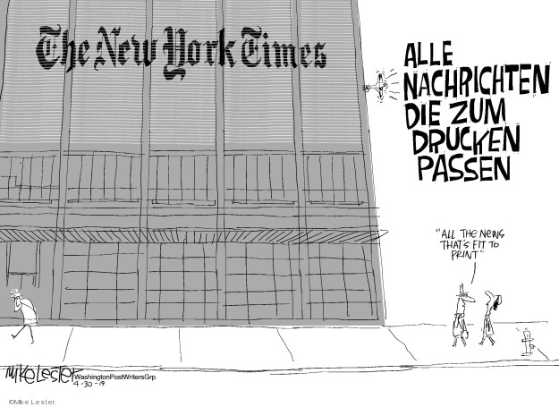 The New York Times. Alle Nachrichten die zum drucken passen. All the news thats fit to print.
