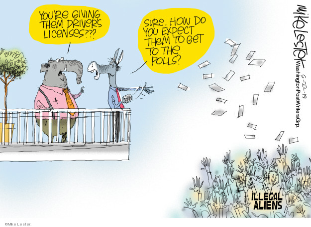 Mike Lester  Mike Lester's Editorial Cartoons 2019-06-22 undocumented immigrant
