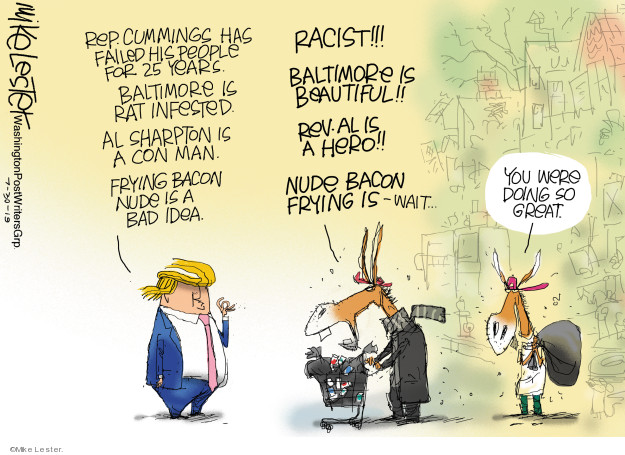 Cartoonist Mike Lester  Mike Lester's Editorial Cartoons 2019-07-30 great