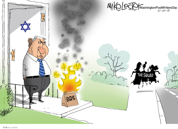 Mike Lester  Mike Lester's Editorial Cartoons 2019-08-17 Israeli prime minister