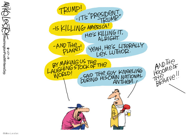 Mike Lester  Mike Lester's Editorial Cartoons 2019-08-27 presidential