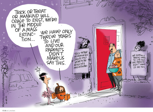 Cartoonist Mike Lester  Mike Lester's Editorial Cartoons 2019-10-29 protest