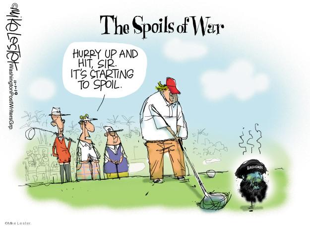 Cartoonist Mike Lester  Mike Lester's Editorial Cartoons 2019-11-01 Donald Trump