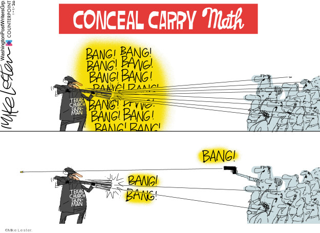 Cartoonist Mike Lester  Mike Lester's Editorial Cartoons 2020-01-02 gun