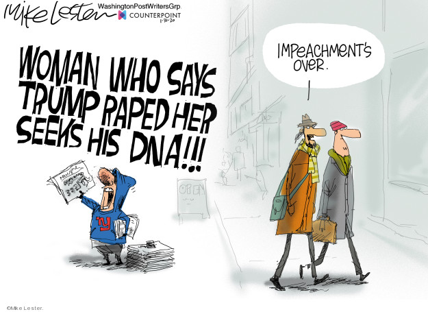 Cartoonist Mike Lester  Mike Lester's Editorial Cartoons 2020-01-31 congressional scandal