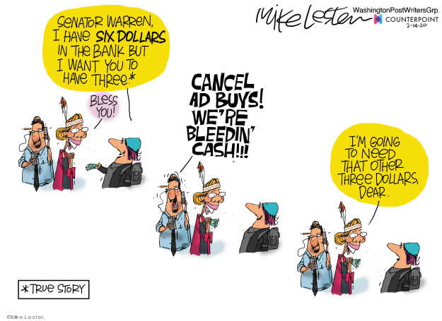 Mike Lester  Mike Lester's Editorial Cartoons 2020-02-14 $3.00