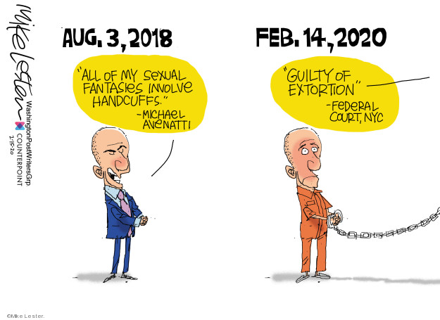 Cartoonist Mike Lester  Mike Lester's Editorial Cartoons 2020-02-15 crime