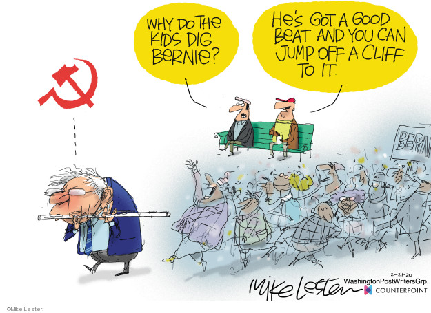Cartoonist Mike Lester  Mike Lester's Editorial Cartoons 2020-02-21 democratic