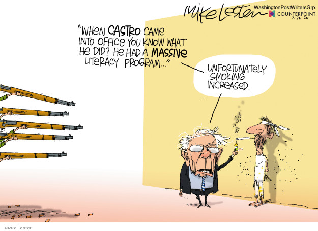 Cartoonist Mike Lester  Mike Lester's Editorial Cartoons 2020-02-26 democratic