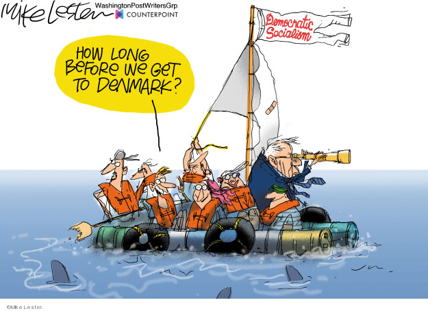 Cartoonist Mike Lester  Mike Lester's Editorial Cartoons 2020-02-28 democratic