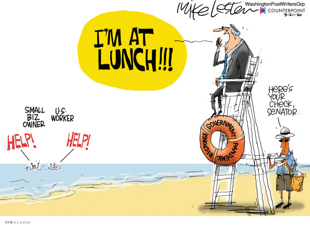 Cartoonist Mike Lester  Mike Lester's Editorial Cartoons 2020-03-21 government