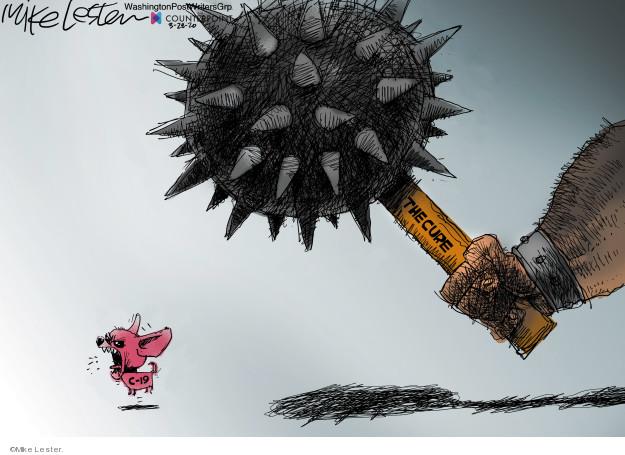 Cartoonist Mike Lester  Mike Lester's Editorial Cartoons 2020-03-28 coronavirus