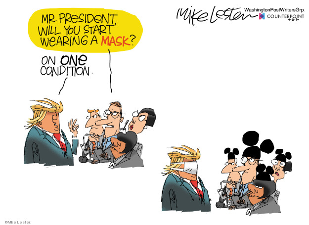 Cartoonist Mike Lester  Mike Lester's Editorial Cartoons 2020-04-08 illness