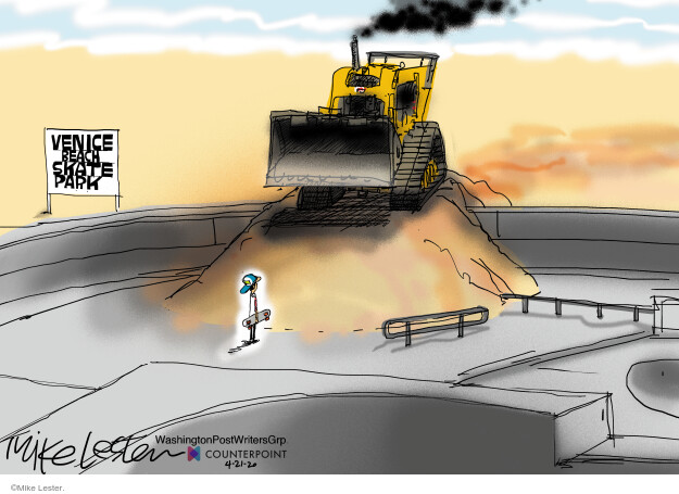Cartoonist Mike Lester  Mike Lester's Editorial Cartoons 2020-04-21 editorial