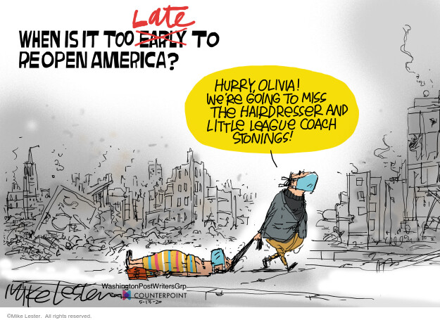 Cartoonist Mike Lester  Mike Lester's Editorial Cartoons 2020-05-13 illness