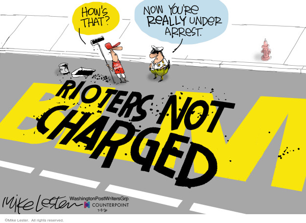 Mike Lester  Mike Lester's Editorial Cartoons 2020-07-09 civil rights