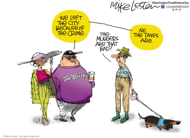 Mike Lester  Mike Lester's Editorial Cartoons 2020-08-06 tax