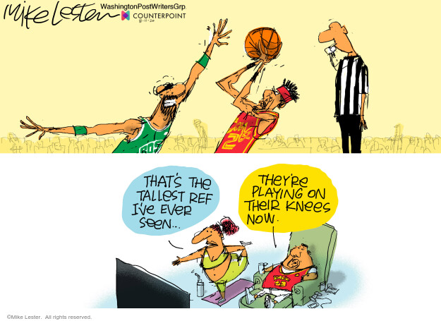 Mike Lester  Mike Lester's Editorial Cartoons 2020-08-11 basketball