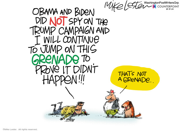Mike Lester  Mike Lester's Editorial Cartoons 2020-08-21 2016 Election Donald Trump