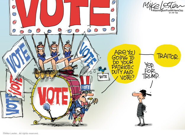 Mike Lester  Mike Lester's Editorial Cartoons 2020-10-03 election