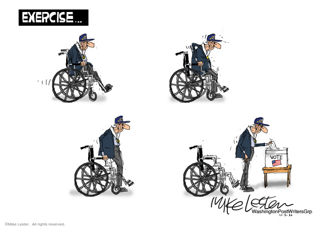 Mike Lester  Mike Lester's Editorial Cartoons 2020-11-03 presidential