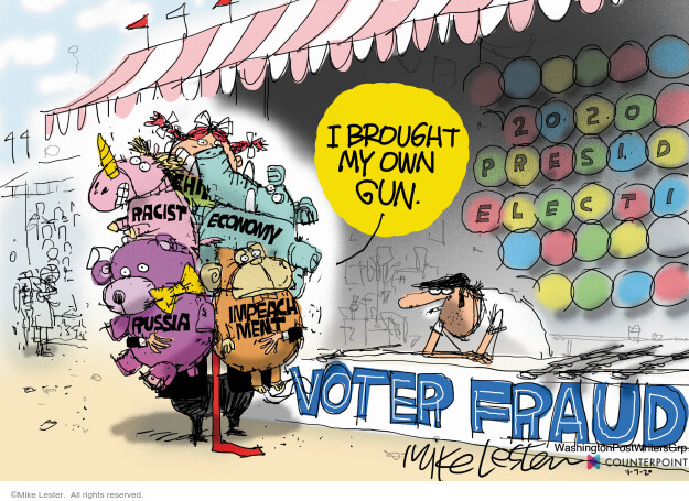 Mike Lester  Mike Lester's Editorial Cartoons 2020-11-07 voter fraud