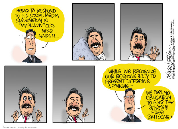 Mike Lester  Mike Lester's Editorial Cartoons 2021-02-04 journalism