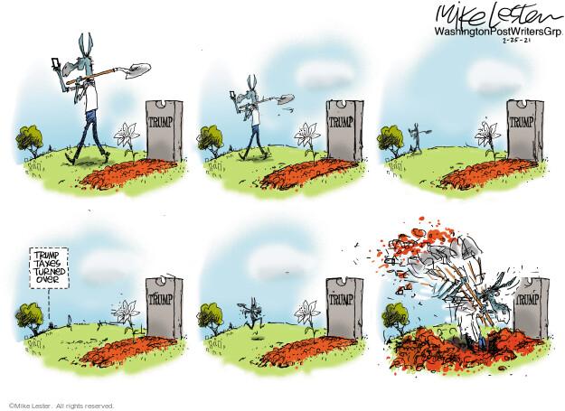 Mike Lester  Mike Lester's Editorial Cartoons 2021-02-25 former president