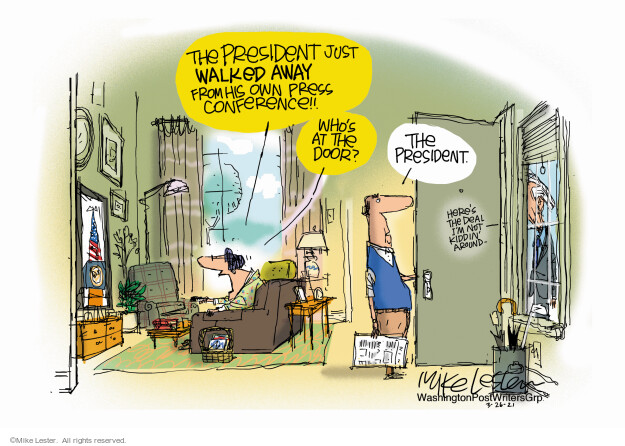 Mike Lester  Mike Lester's Editorial Cartoons 2021-03-26 journalism