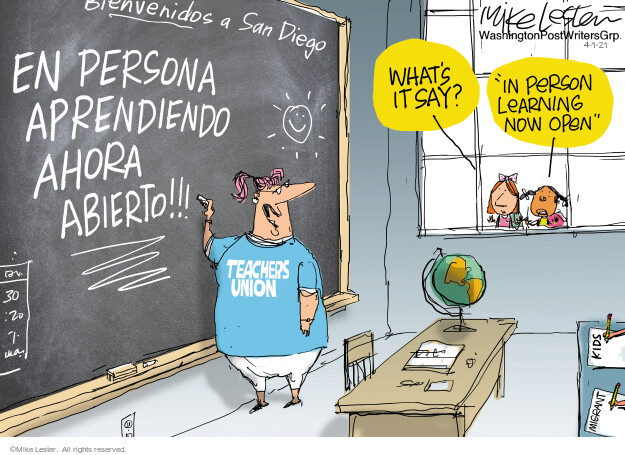 Mike Lester  Mike Lester's Editorial Cartoons 2021-04-01 coronavirus