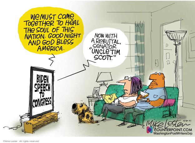 Mike Lester  Mike Lester's Editorial Cartoons 2021-04-30 Joe Biden