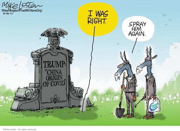 Mike Lester  Mike Lester's Editorial Cartoons 2021-05-26 former president