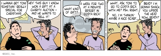 Comic Strip Greg Evans  Luann 2008-12-09 Costa