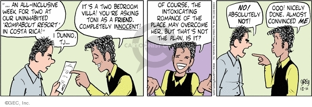 Cartoonist Greg Evans  Luann 2008-12-11 relationship