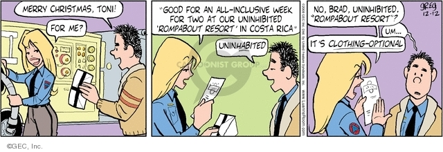 Comic Strip Greg Evans  Luann 2008-12-12 Costa