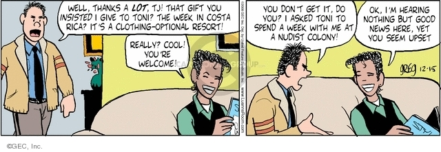 Comic Strip Greg Evans  Luann 2008-12-15 gift