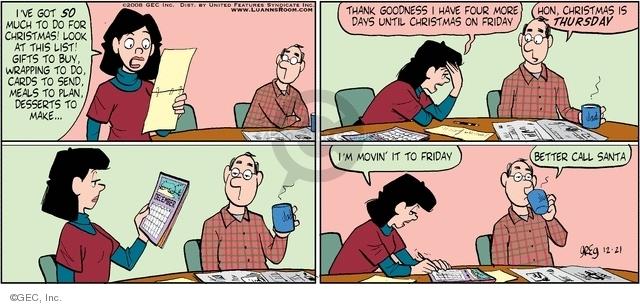 Comic Strip Greg Evans  Luann 2008-12-21 December