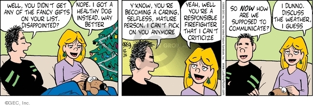Comic Strip Greg Evans  Luann 2008-12-26 get well
