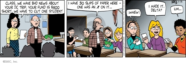 Comic Strip Greg Evans  Luann 2009-01-13 teacher