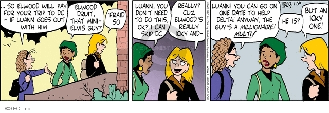 Comic Strip Greg Evans  Luann 2009-01-30 bernice