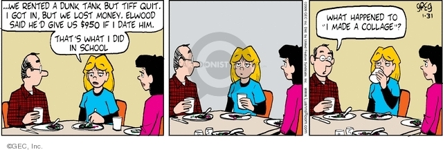Comic Strip Greg Evans  Luann 2009-01-31 family dinner